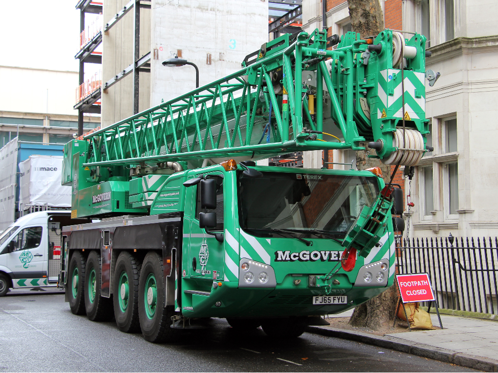 Crane on truck AC100