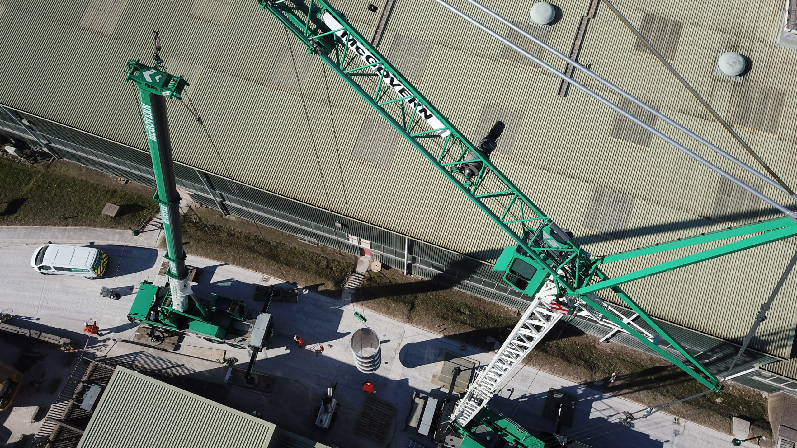 Crane from above