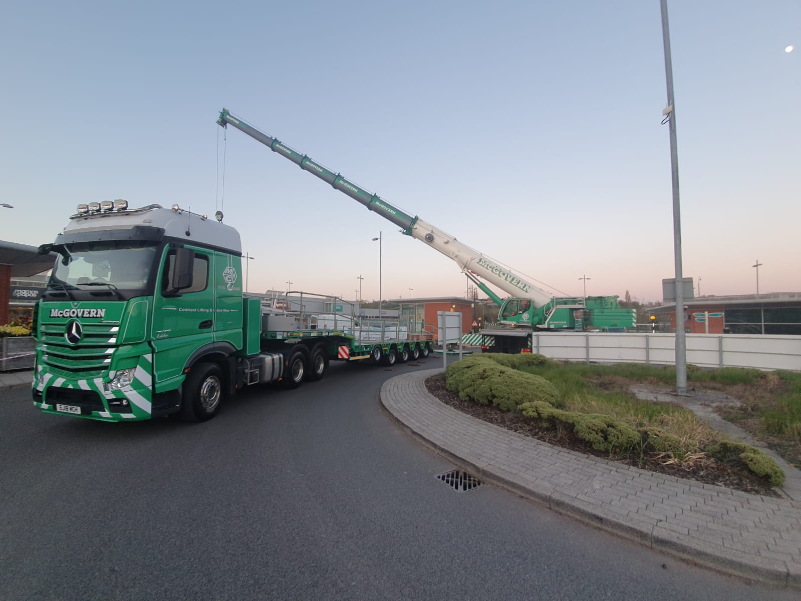 Truck in motion