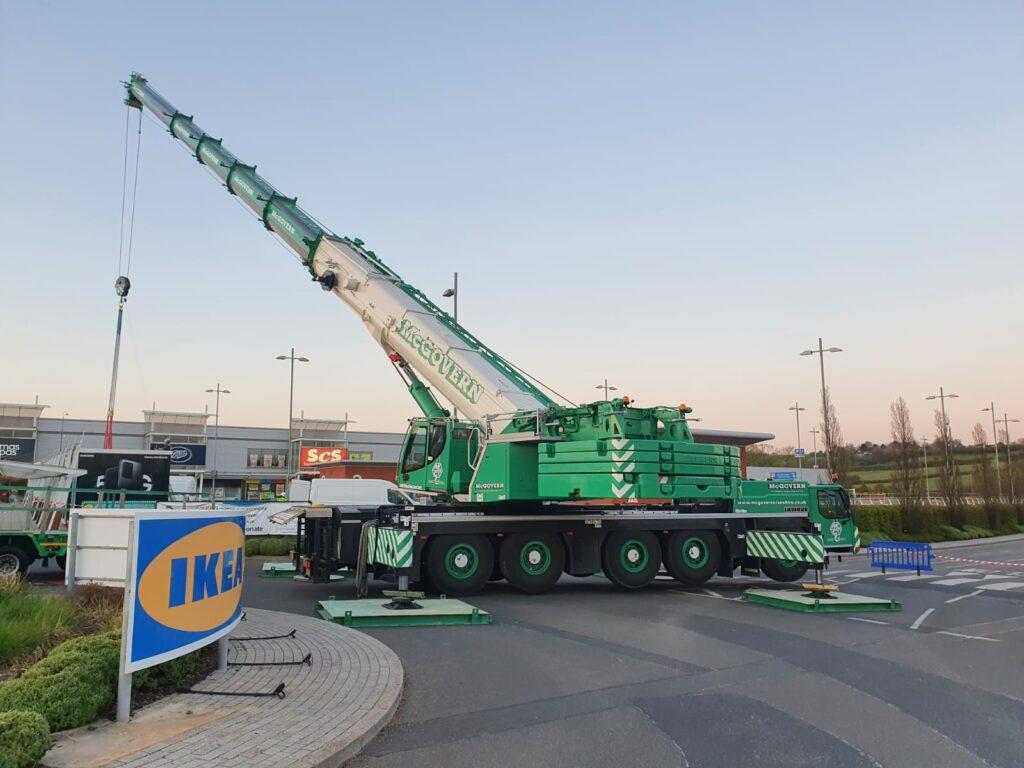 Crane outside IKEA