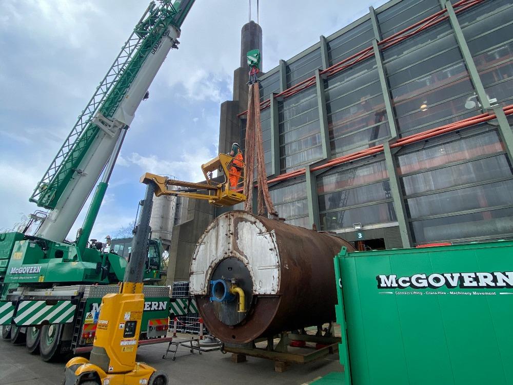 Crane Lifting Boiler